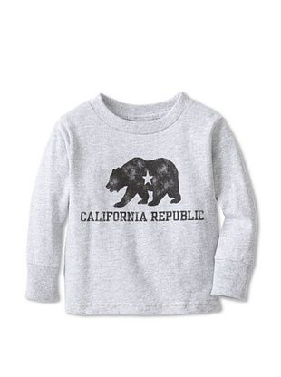67% OFF Little Dilascia Kid's California Republic Bear Long Sleeve Tee (Grey)