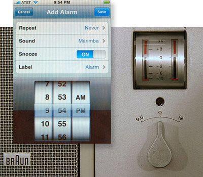 INFLUENCE: Braun Clock vs iOS Interface