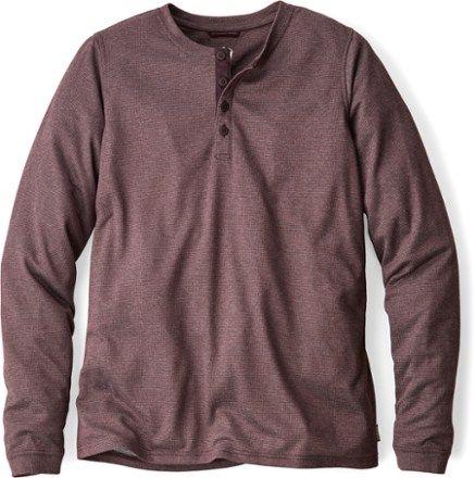 REI Co-op Men's Taereen Henley Shirt - Men's Chocolate Plum XL