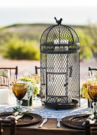 birdcage centerpiece // Photo: Amy Bennett Photography