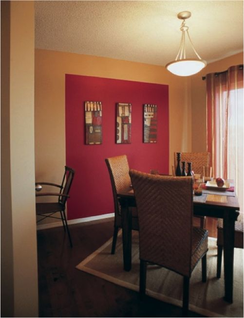 Red Colour Wall: Sherwin-Williams Red Tomato (SW 6607) Accent Wall
