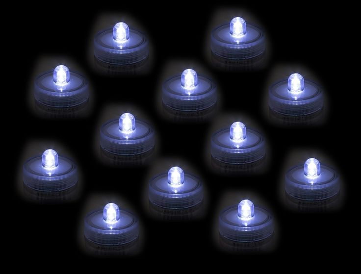 Submersible Underwater LED Lights Waterproof Tea Lights For Wedding, Party,  Pond, Fountain Or Home Decor By Royal Imports, 12 Pack U003eu003eu003e Want Additional  Info?