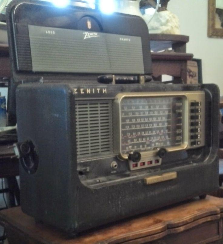 le vide grenier de didou: tsf poste radio valise ZÉNITH trans-oceanic américain de voyage ancien usa états unis vintage modèle Y600 ondes co...: