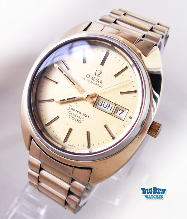 Vintage OMEGA Seamaster Cosmic 2000 Automatic Day-Date Watch