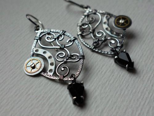 Sterling silver earrings  Design&Handmade by K.Tokar