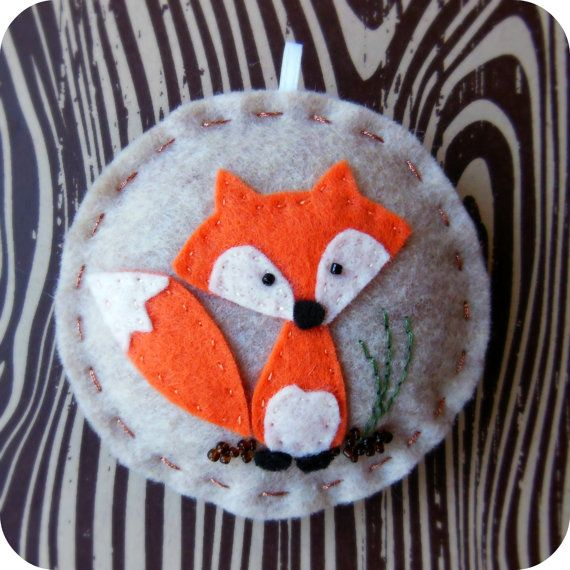 Woodland Fox Felt Christmas Ornament by TheTinyGarden on Etsy, $10.50