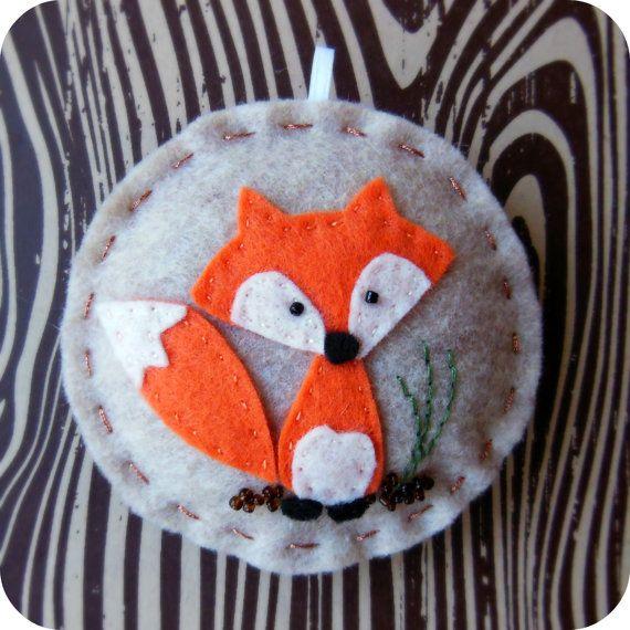 Fox Woodland feutre Noël ornement par TheTinyGarden sur Etsy