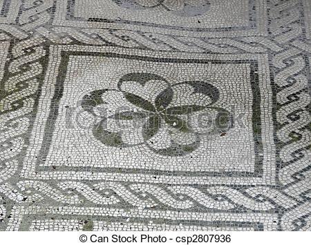 Mosaici antichi romani pavimento in bianco e nero for Pavimento bianco e nero