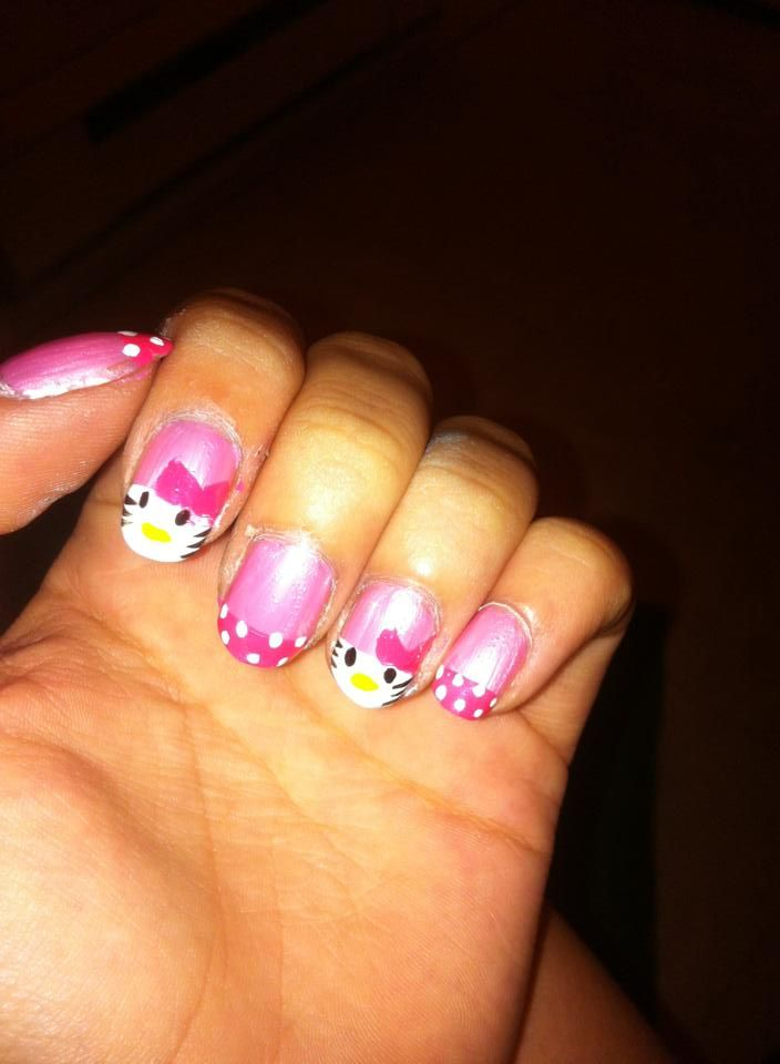 First time doing Hello Kitty