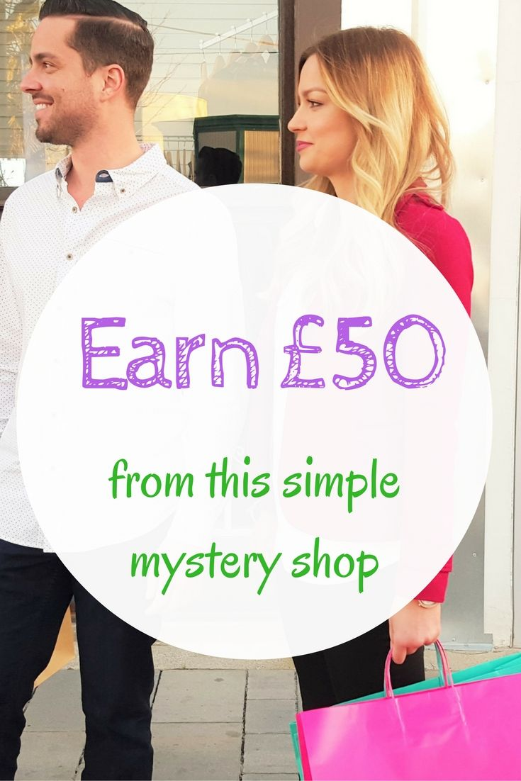 Earn £50 from this one mystery shop - it takes about an hour to complete. Click through to read more and apply, or pin it for later