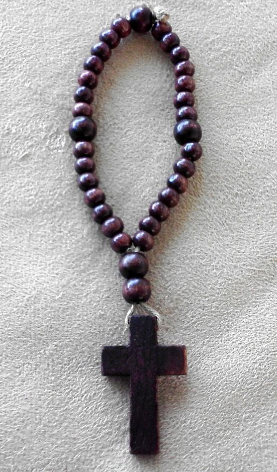 Natural Wood Anglican Rosary