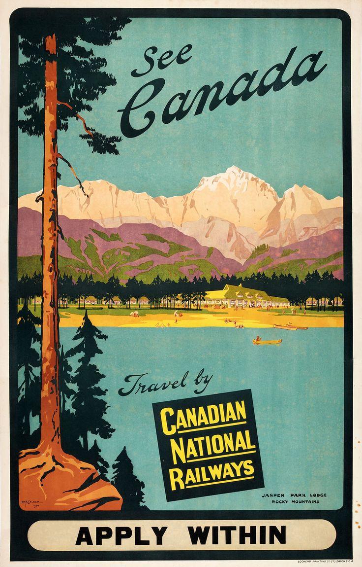 1928 CNR Travel Poster, Jasper #canadian