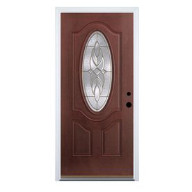 mobile home doors at lowes. Shop Therma Tru Benchmark Doors Varissa Insulating Core Oval Lite Left Hand  Inswing Dark Mahogany Fiberglass Stained Prehung Entry Door Common x Actual 9 best Lowes images on Pinterest entry