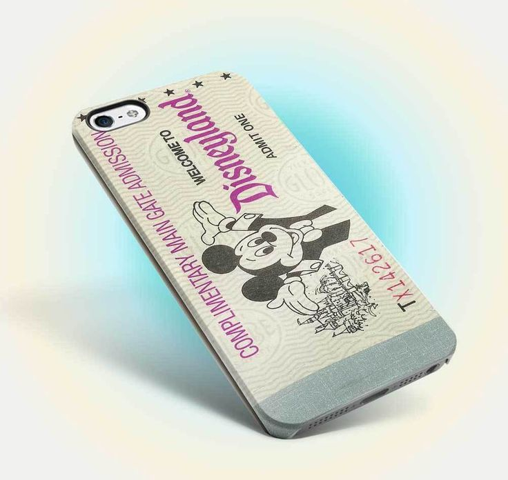 disneyland ticket vintage design iphone case apple 6 6s old oldies family 09 #UnbrandedGeneric