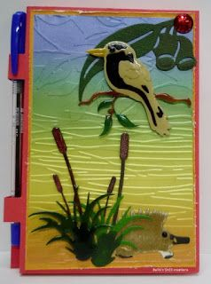 BaRb'n'ShEll Creations-Post it n ote pads-Kookaburra,Echidna-BaRb
