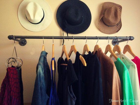 Industrial Pipe Clothing Rack Clothing Rack by FerreroArtDesign
