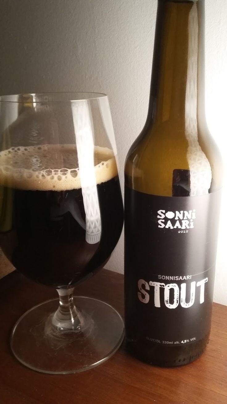 Sonnisaari Panimo Oy - Sonnisaari Stout(+Barley Flake) 4,5% pullo*** (11.10,2017 KOTONA)