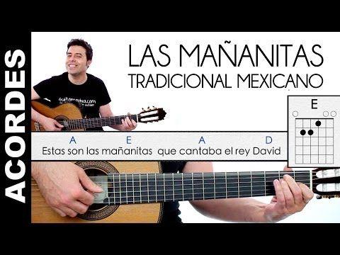 Las Mañanitas en guitarra ACORDES Y LETRA tutorial y enlace a clase - YouTube
