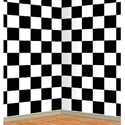 Años 50 calcetín Hop Checkered telón de fondo Alice In Wonderland foto Prop Fiesta Decoración