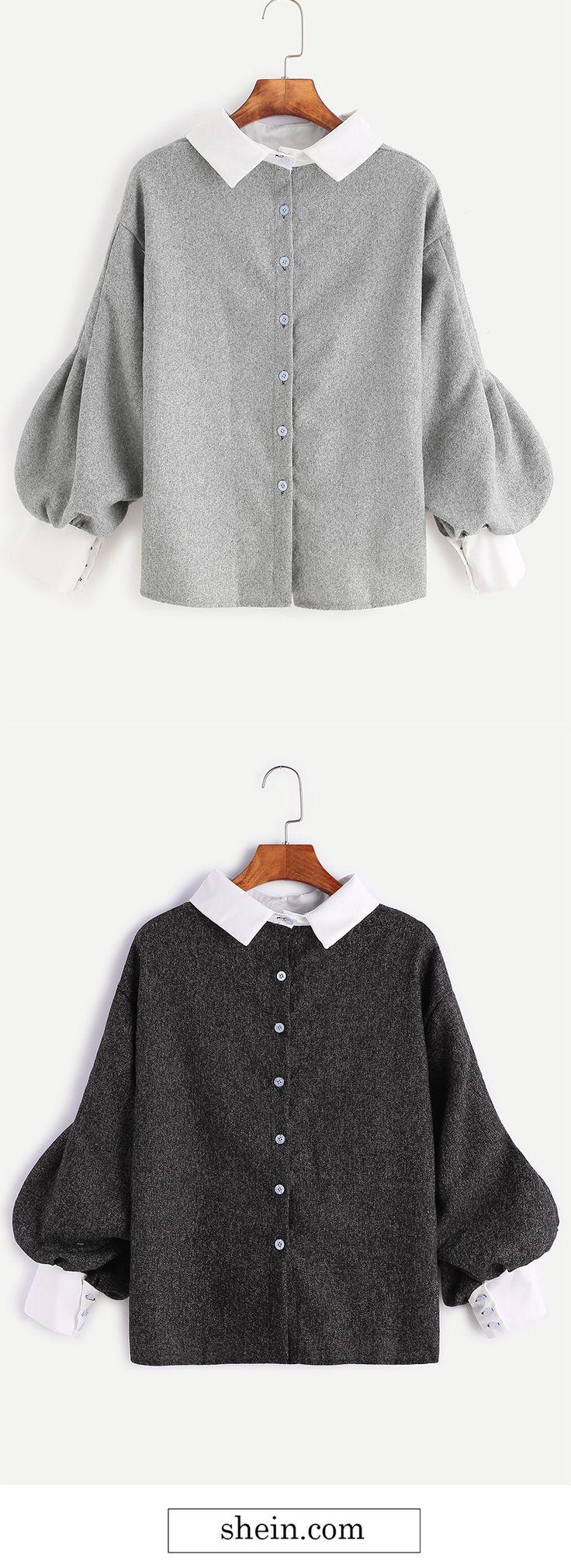 Cute lantern sleeve blouse.