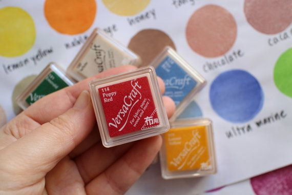 4 versacraft ink pads. tsukineko rubber by talktothesunsupplies