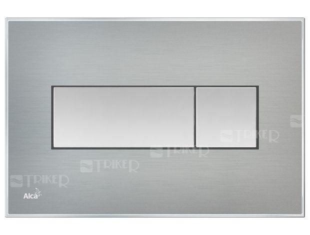 Tlačítko ovládací Alca s vloženou barevnou deskou M137x M1371 nerez - Triker
