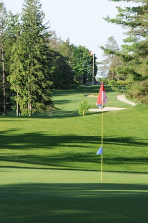 Picture of the 8th Hole of the beautiful Guelph Country Club, located right in the heart of Guelph, Ontario. #golf #fun #guelph