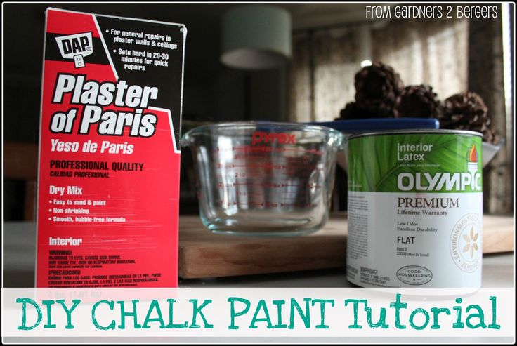 Yet another DIY tutorial and chalk paint recipe...