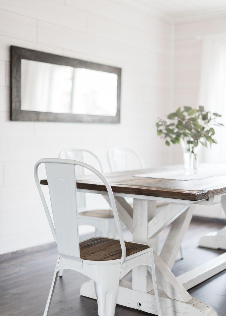 Binjai pöytä, metallirunkoinen tuoli. Reclaimed wood furniture