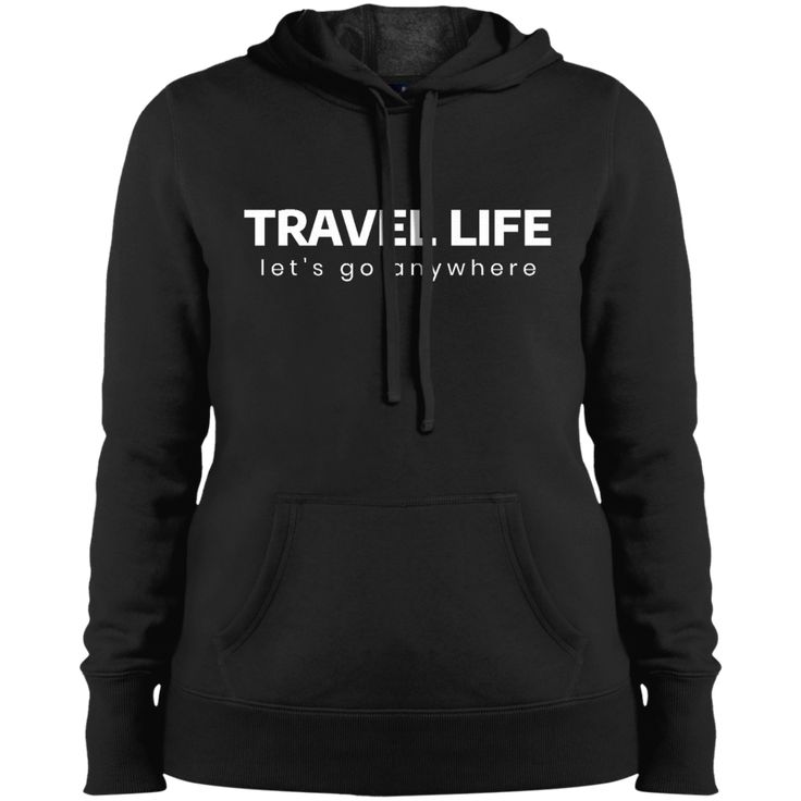 Travel Life Hoodie from Munkberry. These shirts are great for everyday, travel, hiking, running, yoga, and active wear for women. Great gift idea for women, ladies, girls.