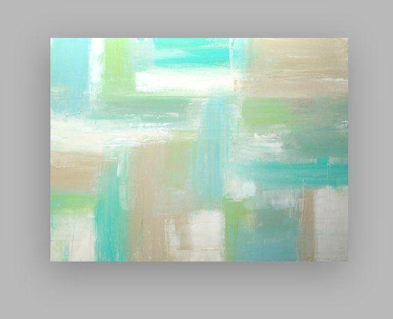 Arte pintura abstracto acrílico sobre lienzo por OraBirenbaumArt