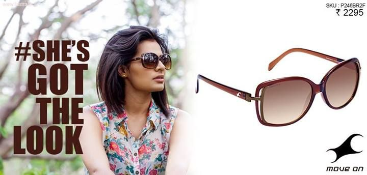 This summer, we're big on Sunglasses! #ShesGotTheLook http://fastrack.in/product/p246br2f   #Fastrack #Sunglasses #Fashion