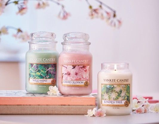 Vårens nya Dofter Pure Essence 2017. Wild Mint, Cherry Blossom, Linden Tree. #YankeeCandle #WildMint #CherryBlossom #LindenTree VårNyheter2017