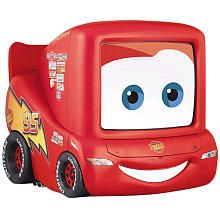 """Lightening McQueen 13"""" TV - so I would never, ever let my kid have a TV in his room (I don't even allow one in my own bedroom), but this is so dang cute I had to pin it anyway"""