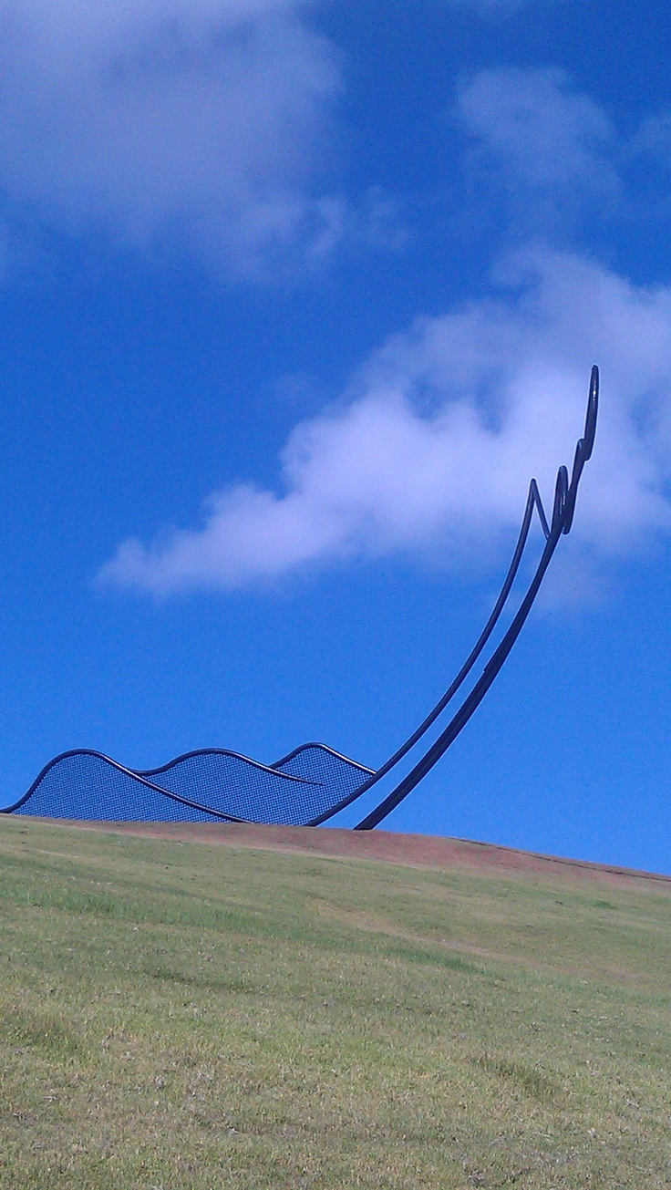 """Lawn Chair"" for giants.  By this stage of the walk I could have done with a human size chair.    http://www.matakanacountry.co.nz/home/home/ #Matakana #New Zealand #travel #art #sculptures"