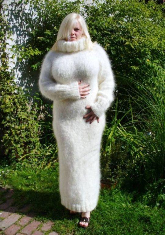 hand-knit mohair sweater dress