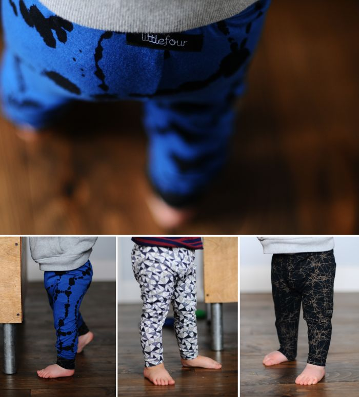 Fun leggings for baby boys from Little Four Clothing