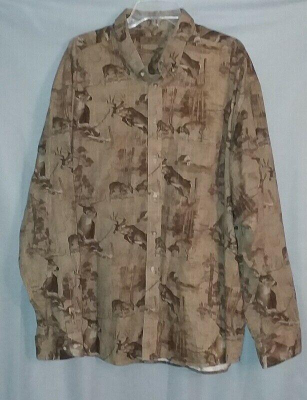 2de047f1dff Morgan Creek Outfitters Shirt Mens Size 3X Brown Deer Long Sleeve Button  Front #MorganCreekOutfitters #ButtonFront