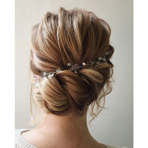 Wedding hair inspiration ❤ liked on Polyvore featuring accessories, hair accessories, braid and hair