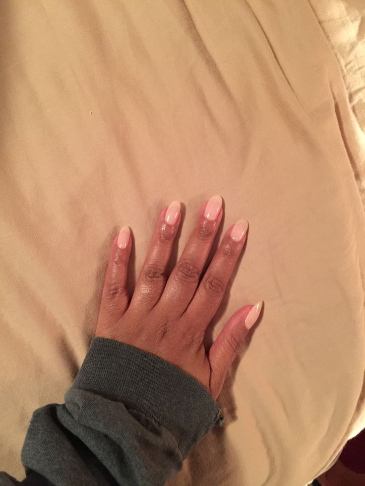 European liquid gel nails from Nail Junkie in Chicago. Very natural looking over my natural nail. No tips or extensions. Nail color is OPI bubble bath