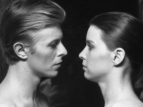 1975 - David Bowie as Thomas Newton and Candy Clark as Mary-Lou in The Man Who Fell To Earth.