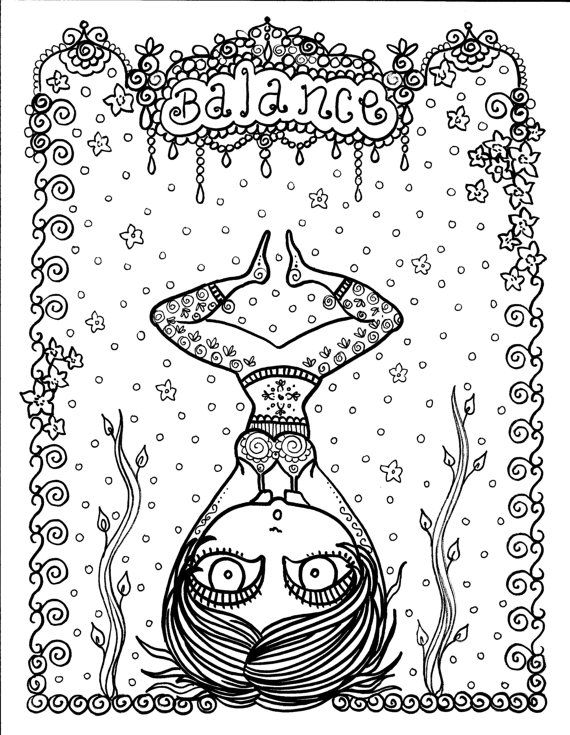 The BIG YOGA Coloring book you be the Artist by ChubbyMermaid