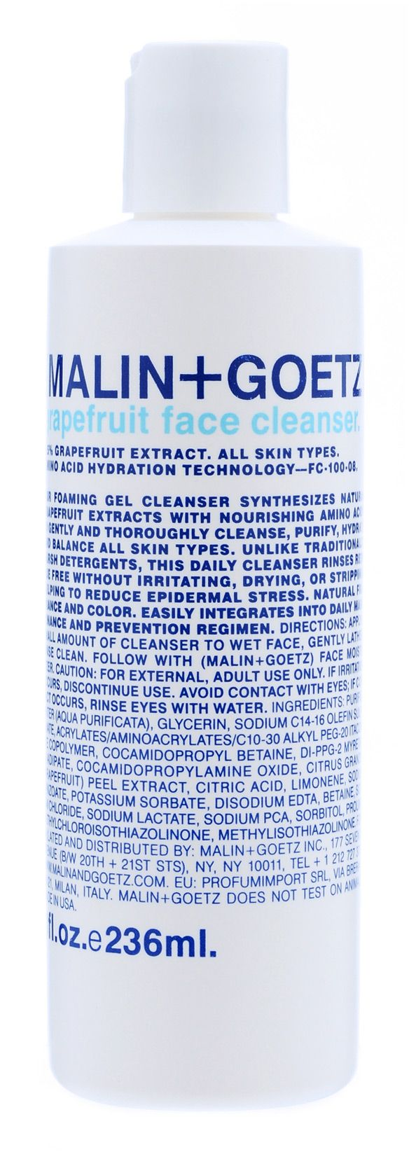 great all natural face cleanser for sensitive rosacea-prone skin... (grapefruit face cleanser by malin+goetz)