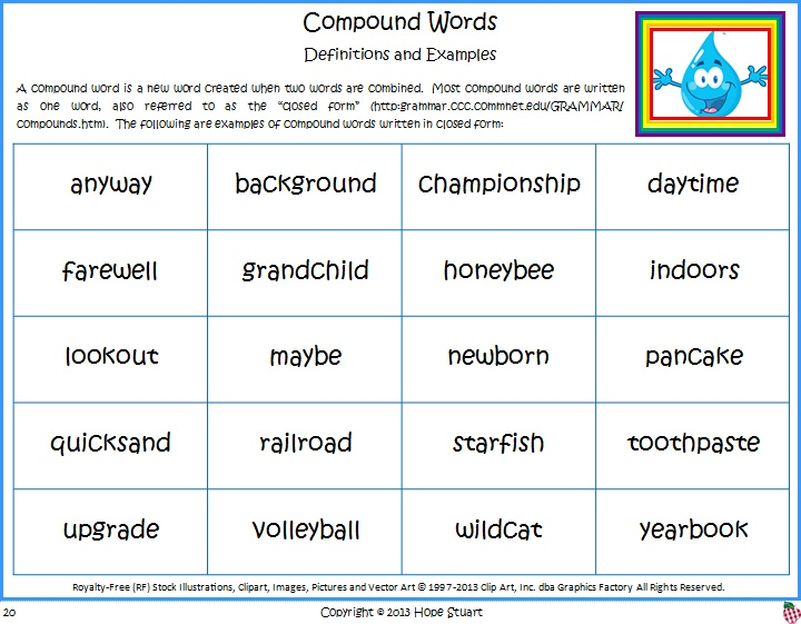 Compound Words for Earth Day: Rain, Rain Don't Go Away! (Book Packet)