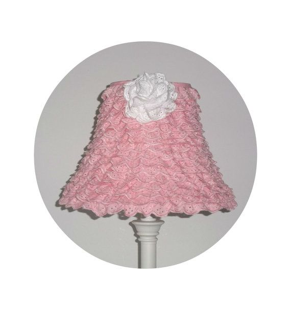 Shabby Chic Pink Ruffle Lamp Shade by ShabbyBlueRose on Etsy