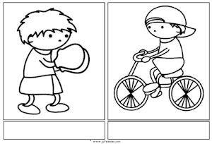 Juf Sanne: sport woordkaarten zonder tekst
