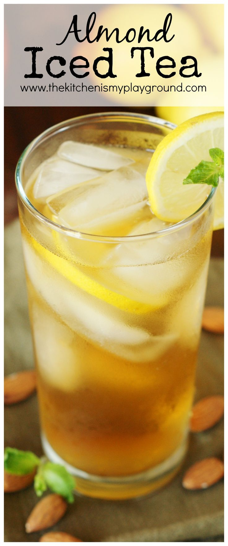 Almond Iced Tea ~ a refreshing and flavorful twist on your sweet tea!   www.thekitchenismyplayground.com