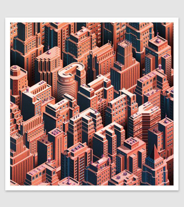 City Life - Isometric Cityscape | Abduzeedo Design Inspiration