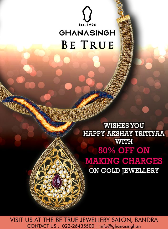 Akshay Tritiyaa, the most auspicious occasion comes only once a year. Do not hold back!