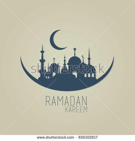 ramadan kareem month celebration greeting card design illustration vector, happy ied mubarak islamic moslem traditions